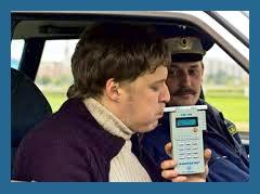 Поведение водителя при прохождении теста на алкоголь