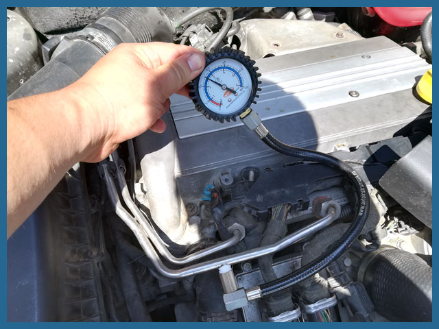 Проверка давления топлива